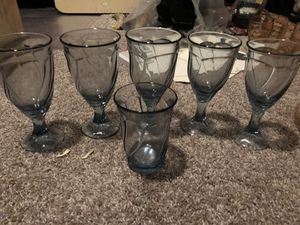 Vintage antique 1960's crystal wine glasses for Sale in Dallas, TX