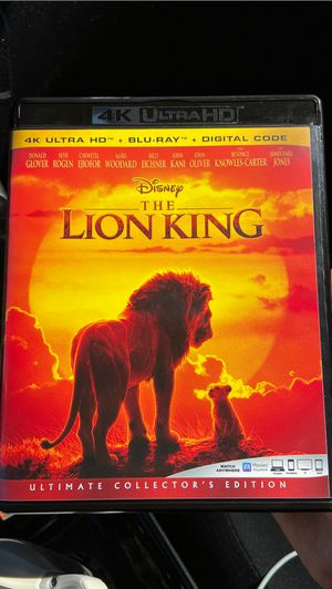 Disney's THE LION KING BLU RAY DISC for Sale in Garden Grove, CA