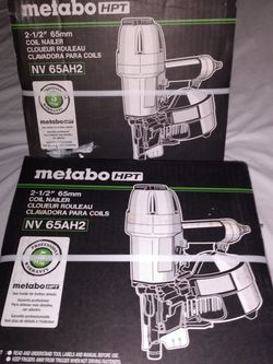 "Metabo 1 1/2"" - 2 1/2"" Coil Nail Guns Nv65ah2 for Sale in Cape Coral,  FL"