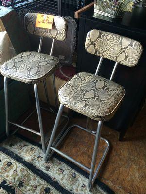 Vintage mid century modern chrome snake bar stools $125 each for Sale in San Diego, CA