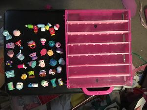 Shopkins and storing case for Sale in Lakewood, CO