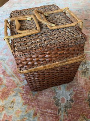 Cute as heck picnic basket for Sale in Portland, OR
