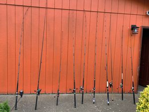 Fishing rod with reel for Sale in Woodburn, OR