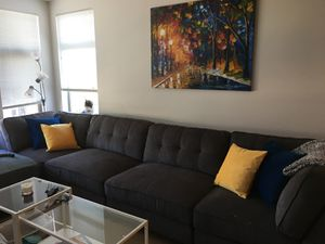 Large Grey Sectional Couch for Sale in Seattle, WA