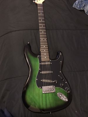 Electric guitar (crescent) + (amp for Sale in Fresno, CA