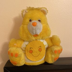 Vintage 1984 FunShine Yellow Care Bear Coin Bank Toy Stuffed Animal Teddy Bear for Sale in Miami, FL