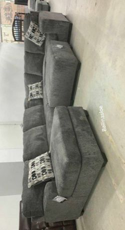 Same Day Delivery in Stock Spcl Ballinasloe Smoke RAF LAF available Sectional for Sale in Alexandria,  VA