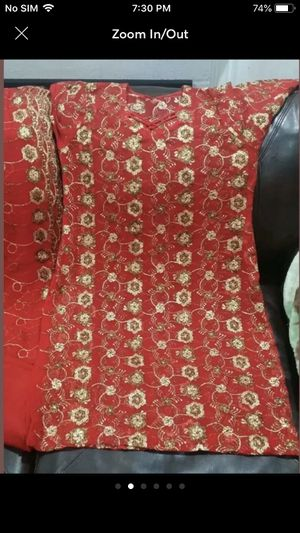 Pakistani Indian desi shalwar kameez red party wedding casual dress outfit women's clothes for Sale in Silver Spring, MD