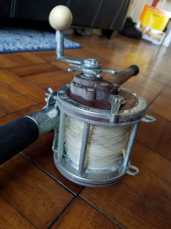 Penn Senator 114-H salt water reel & rod