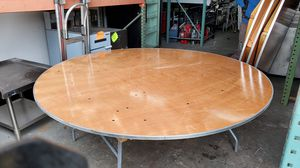 ROUND RESTAURANT WOOD PARTY TABLES - MESA PARA FIESTA for Sale in Hialeah, FL