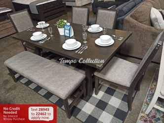 New 6pc Dining Set, Grey, SKU# PDXF2494TC for Sale in Norwalk,  CA