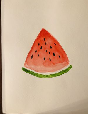 Watercolor Watermelon painting 9x12 for Sale in Manassas Park, VA