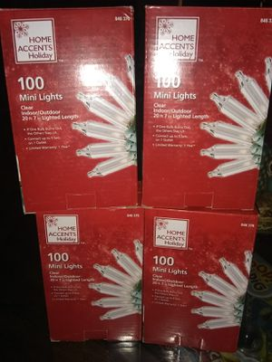 New 100 mini lights clear 2 packs for $5 for Sale in Philadelphia, PA