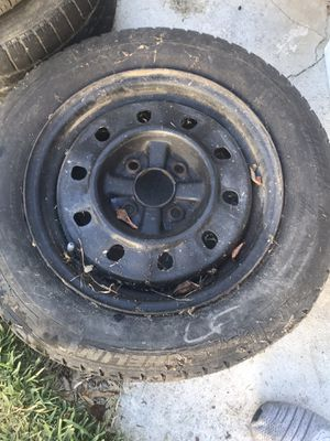 2 rims and one black spare rim. Tires not in good shape. for Sale in Whittier, CA