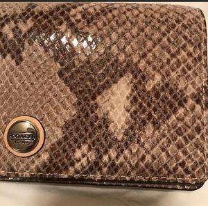 Coach Wristlet Wallet Snake Print for Sale in Nashville, TN