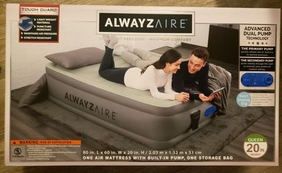 AlwayzAire Tough Guard 20in. Queen Air Mattress for Sale in Phoenix,  AZ
