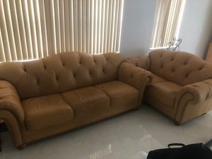 Leather couches for Sale in Pompano Beach, FL