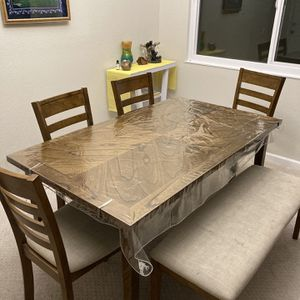 6-person Table Includes Bench Seating for Sale in Newark, CA