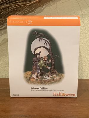 Department 56 Halloween Full Moon Werewolf. Lights work. for Sale in Yorba Linda, CA