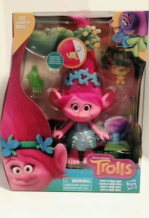Trolls Poppy & Troll Baby for Sale in Los Angeles, CA