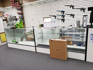 Retail display cases, Two with lights. for Sale in Garden Grove, CA