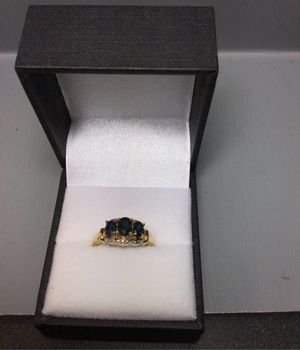 10k blue stone ring for Sale in Evanston, IL