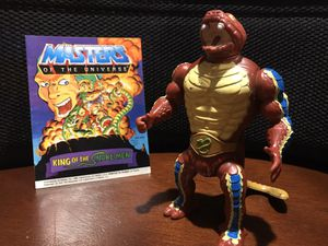 Vintage MOTU Rattlor Action Figure with Comic for Sale in Arnold, MO