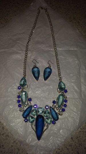 Blue Necklace set for Sale in Phoenix, AZ