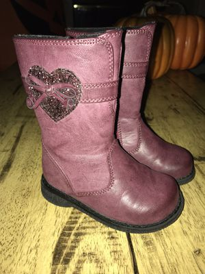 Toddler Girl Size 6 faux leather boots for Sale in Woodinville, WA