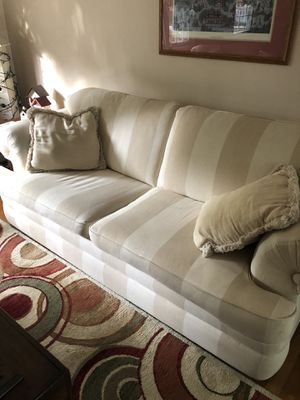 Sofa, chair and a half, ottoman for Sale in Sudley Springs, VA