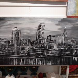 Kansas City Skyline Original Paintining for Sale in Plano, TX