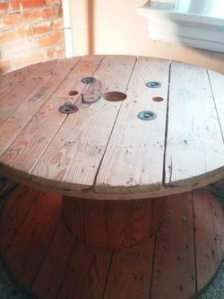 (2) Reclaimed Cable Spools Industrial Coffee Or End Tables For Loft, Patio, Storage, Etc for Sale in St. Louis,  MO