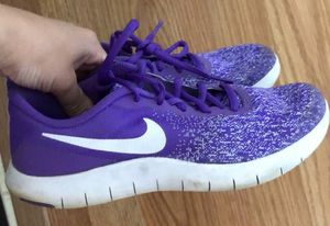 Nike Women's 7.5 purple & white for Sale in Udall, KS
