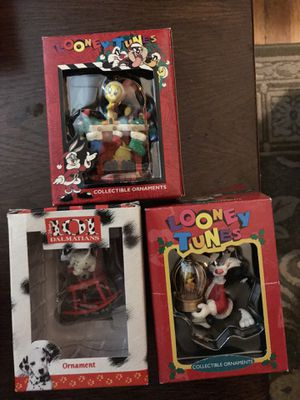 Looney Tunes and Disney assorted ornaments 2.50 each for Sale in St. Louis, MO