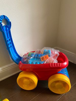 2 Strollers with blocks toy for kids (each for $5) for Sale in Tampa, FL