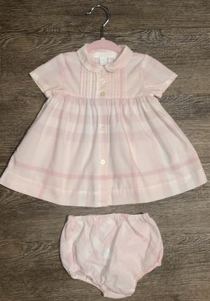 Burberry baby girl pink Nova Check dress 3 months great condition! for Sale in Raleigh, NC