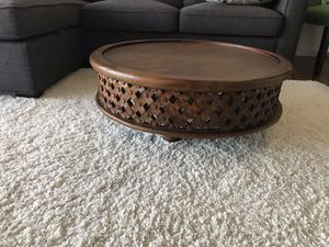 West Elm carved wood coffee table for Sale in Jersey City, NJ