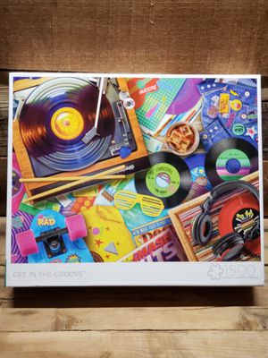 "BUFFALO GAMES ""Get In The Groove"" 1500pc puzzle NEW factory sealed for Sale in Indianapolis, IN"