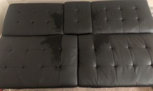 Black leather futon for Sale in Middletown, OH