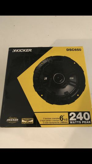 Kicker 6.5 inch speakers for Sale in Chino Hills, CA