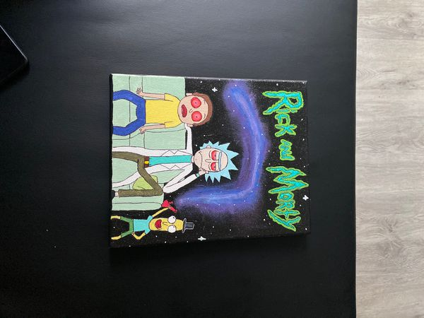 Rick and Morty painting