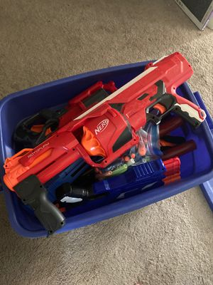 bucket of nerf guns for Sale in Fort Myers, FL