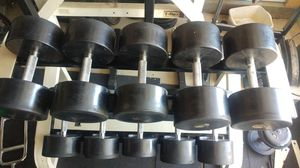 Cemco Commercial Rubber Dumbbells, 80-100 lbs for Sale in Elk Grove, CA