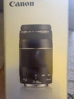 New Canon 75-300mm Lense for Sale in Dallas, TX