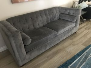 Velour sofa Great condition for Sale in Los Angeles, CA