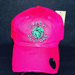 Fresh Culture Watermelon Pink Distressed Dad Hat for Sale in Houston, TX