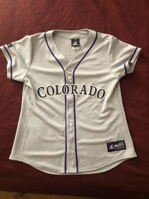 Colorado Rockies Women's Medium Majestic Baseball Jersey Like New! for Sale in Phoenix, AZ