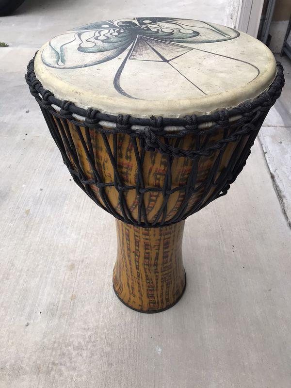 Large Carbon Fiber Djember Drum with case