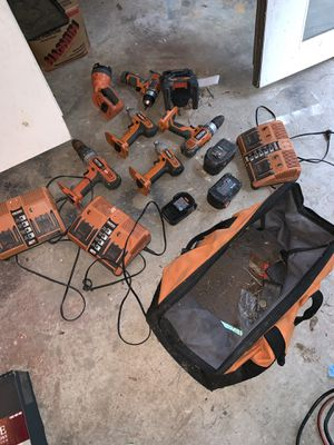 RIDGID cordless power tools 18v for Sale in Kennesaw, GA
