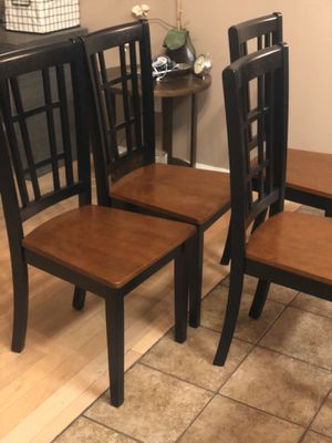 Brand New set of 4 solid wood chairs. Retails for $650 for Sale in Fowler, CA